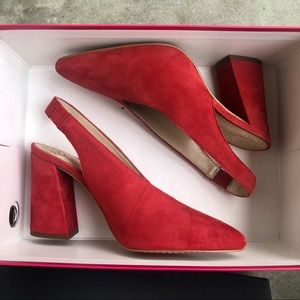 fb9d010038a Vince Camuto Shoes - Vince Camuto Tashinta slingback Pumps red suede